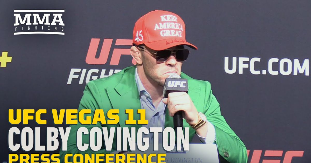 Colby Covington believes Tyron Woodley asked to avoid face off with him at UFC Vegas 11 press conference