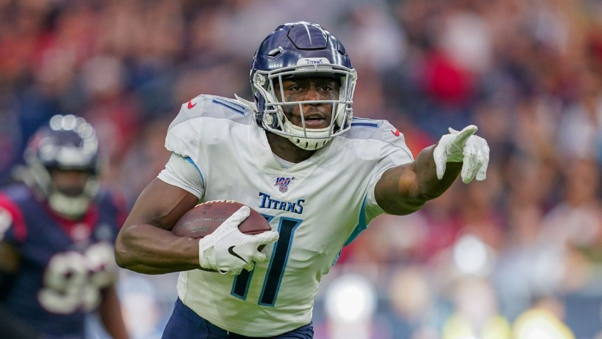 Titans' A.J. Brown out against Jaguars with bone bruise on knee