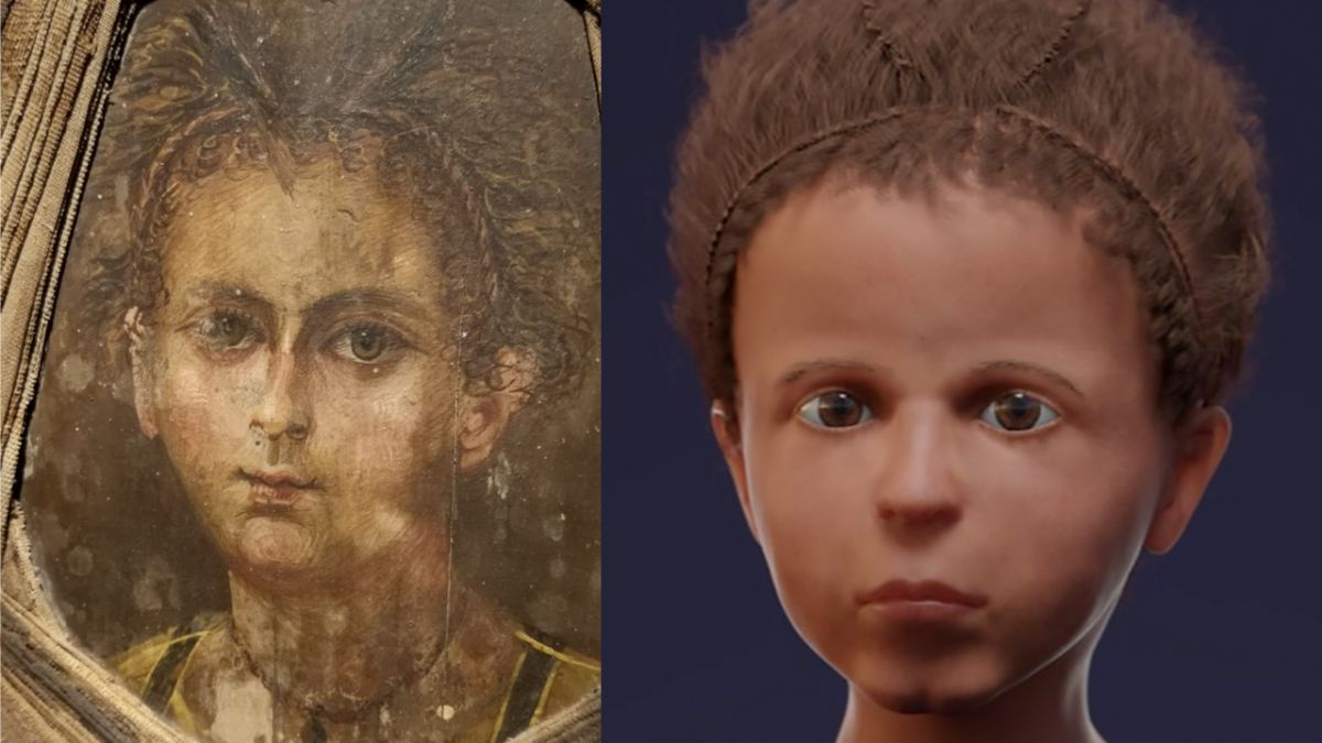 Facial reconstruction reveals Egyptian 'mummy portrait' was accurate except for one detail