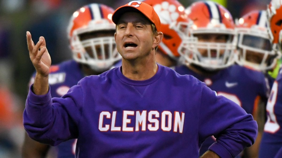 Clemson football coach Dabo Swinney giving up over $1 million in scheduled compensation as pandemic strains school finances
