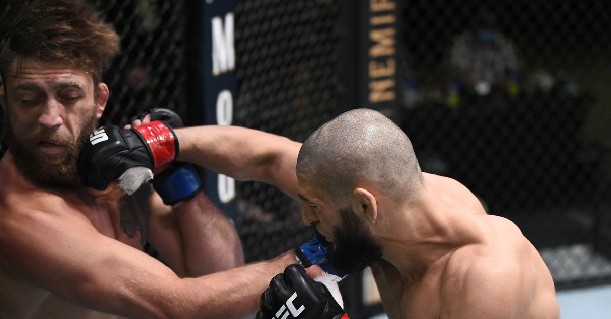 UFC Vegas 11 video: Khamzat Chimaev lands one-punch knockout in just 17 seconds to finish Gerald Meerschaert