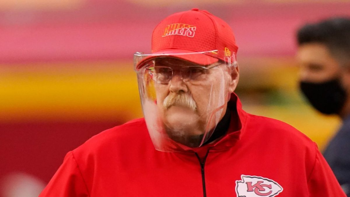 Kansas City Chiefs coach Andy Reid to wear face shield again in Week 2, try out defogging product