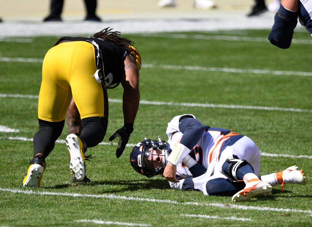 Uh-oh-and-2: Drew Lock injured as Broncos fall 26-21 to Pittsburgh