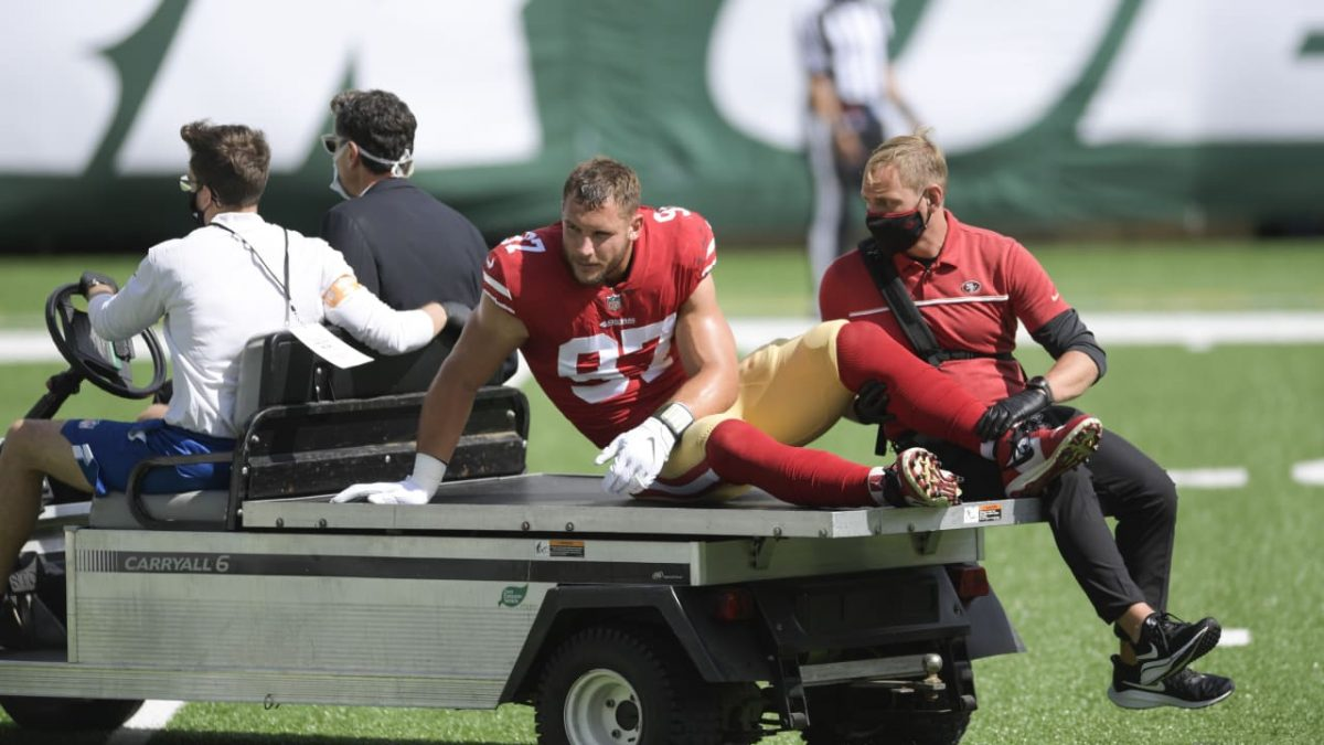 MRI confirms 49ers DE Nick Bosa has torn ACL, will miss rest of season