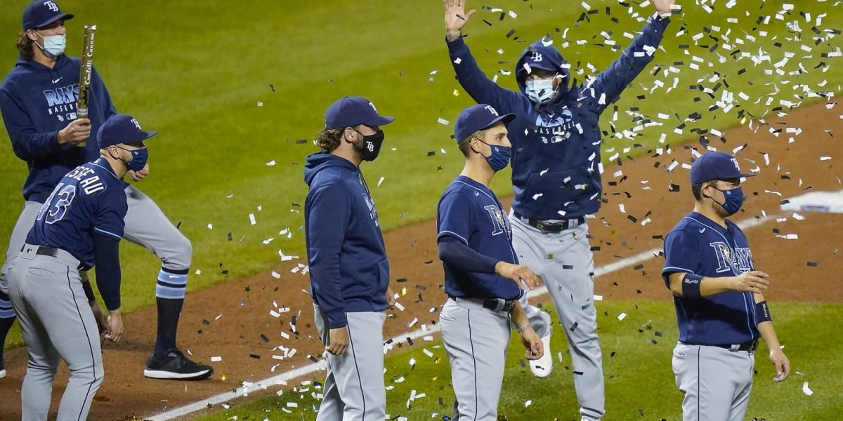 Rays secure first AL East title since 2010
