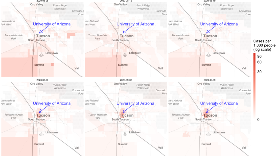 Tucson's latest COVID-19 hot spot: University of Arizona area