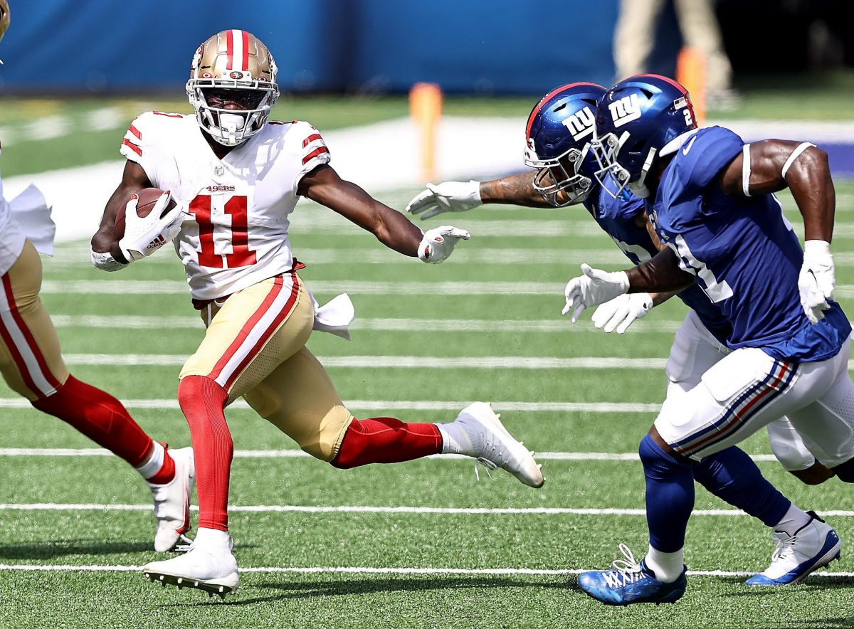 49ers' rookie WR Brandon Aiyuk looks experienced in blowout of Giants